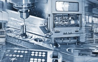 Production in the industry with various machines